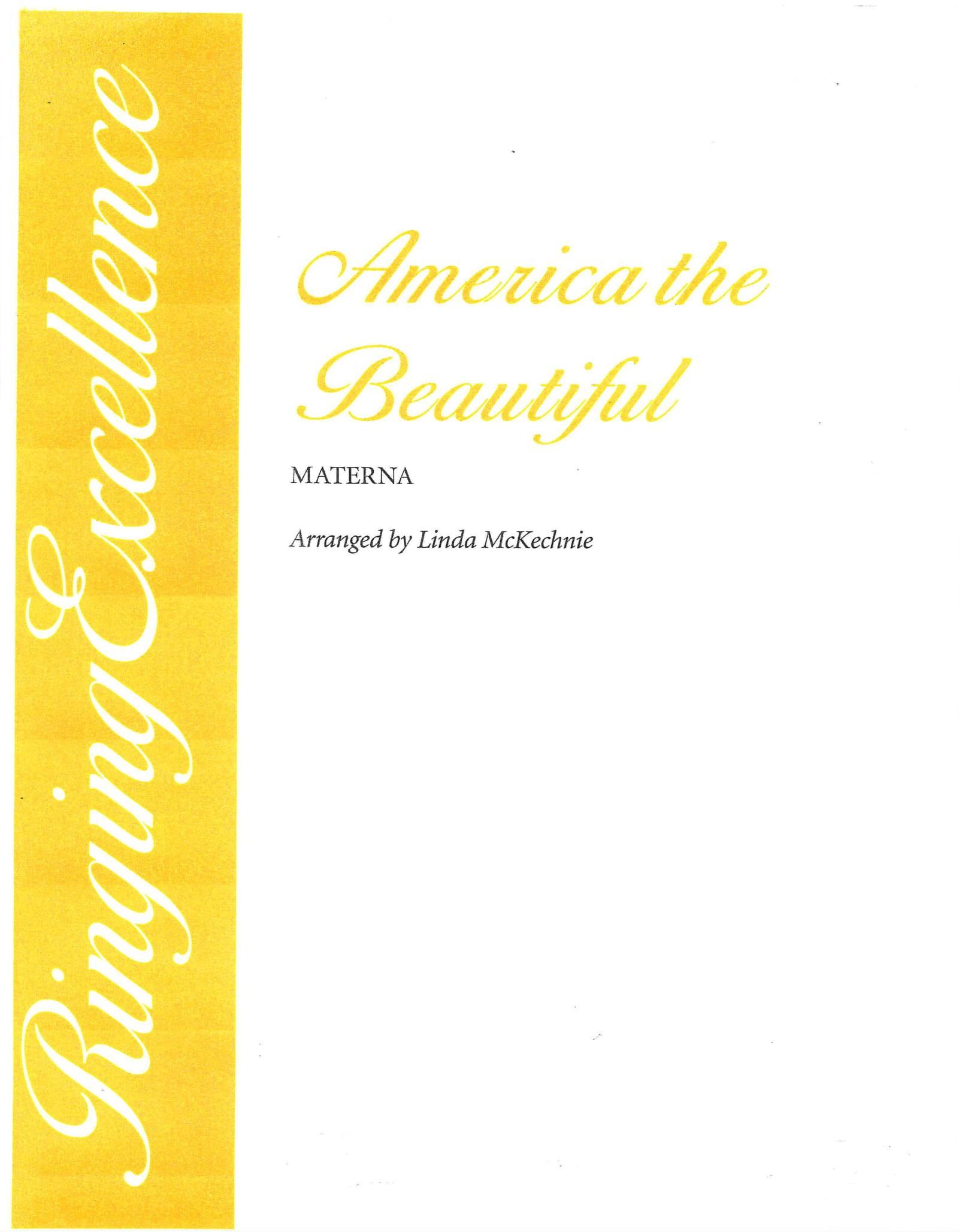 America The Beautiful 4 Part Choir